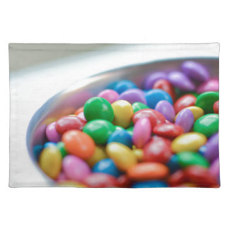 colorful candy placemat