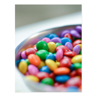 colorful candy postcard