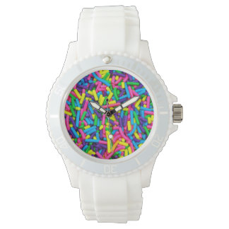 Colorful candy sprinkles pattern watch