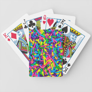 Colorful candy sprinkles print card decks
