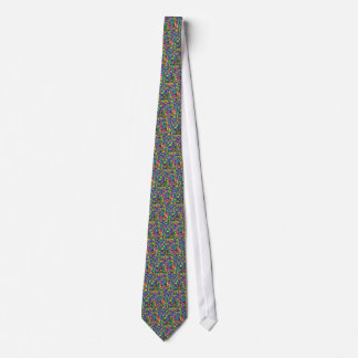 Colorful candy sprinkles print tie