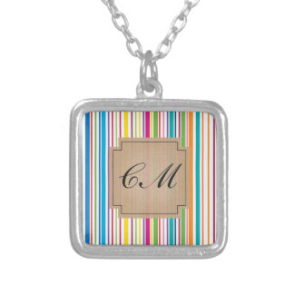 Colorful Candy Stripe - Custom Text Pendants