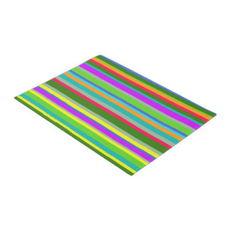 Colorful Candy Stripes Doormat