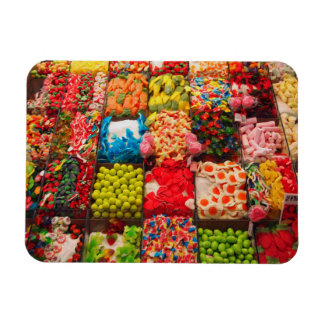 Colorful candy sweet shop magnet