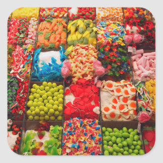 Colorful candy sweet shop sticker