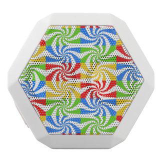 Colorful Candy Swirls White Boombot Rex Bluetooth Speaker