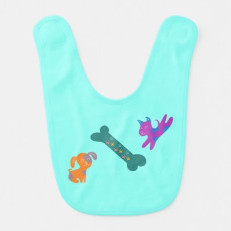 Colorful Canines Bib