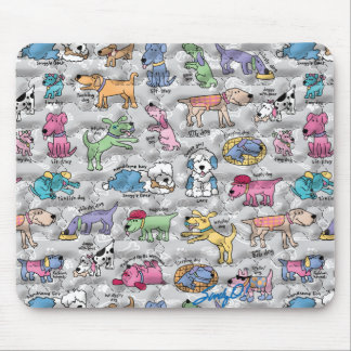 Colorful Canines Mouse Pad