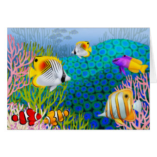 Colorful Caribbean Coral Reef Card