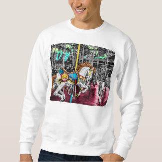 Colorful Carousel Horse at Carnival Sweatshirt