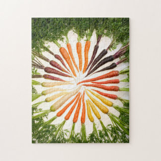 Colorful Carrots In A Circle Jigsaw Puzzle