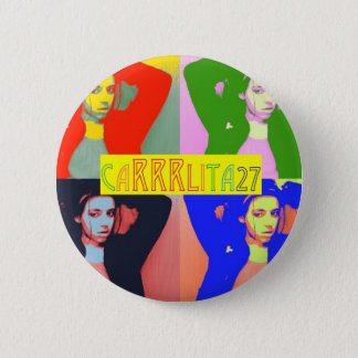 Colorful Carrrlita27 Buttons! 6 Cm Round Badge