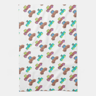 Colorful Cars Kitchen Towels