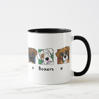 Colorful Cartoon Boxers Mug