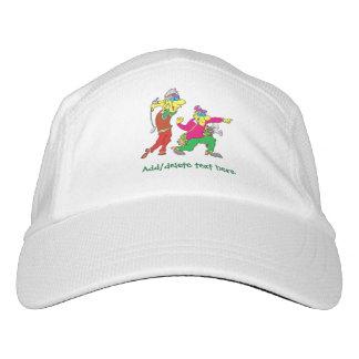 Colorful Cartoon Golfer and Caddie Hat