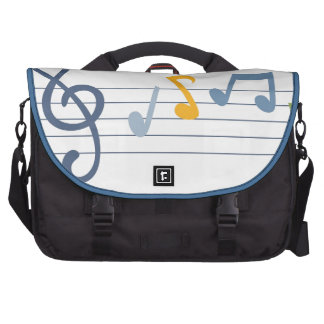 Colorful cartoon music notes commuter bag