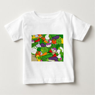 Colorful Cartoon Vegetables Baby T-Shirt