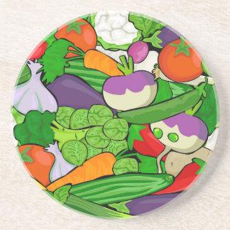 Colorful Cartoon Vegetables Coaster