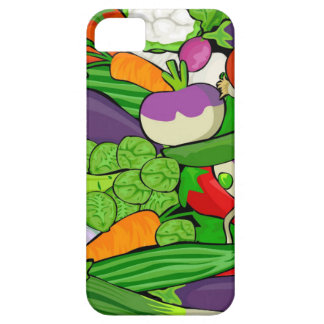 Colorful Cartoon Vegetables iPhone 5 Cases
