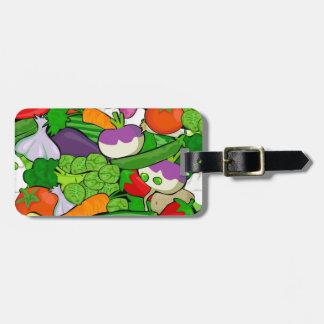 Colorful Cartoon Vegetables Luggage Tag