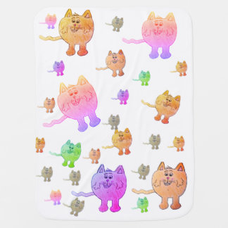 """COLORFUL CAT"" blanket"