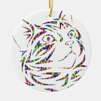 colorful cat ceramic ornament