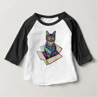 Colorful Cat in a Box Shirt