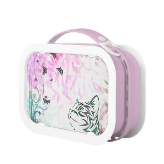 Colorful Cat Lunch Box