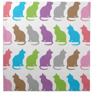 Colorful cat pattern napkin