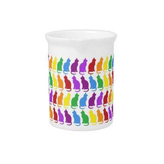 Colorful Cat Porcelain Pitcher