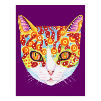 Colorful Cat Postcards