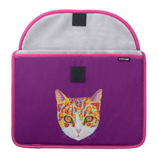 Colorful Cat Sleeve For MacBooks