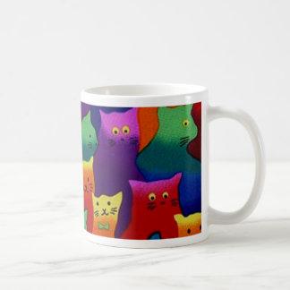 Colorful Cats Basic White Mug