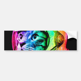 colorful cats - Cat astronaut - space cat Bumper Sticker
