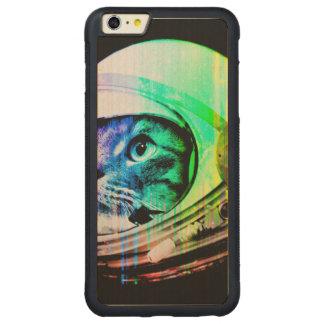 colorful cats - Cat astronaut - space cat Carved Maple iPhone 6 Plus Bumper Case