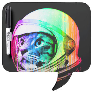 colorful cats - Cat astronaut - space cat Dry Erase Board
