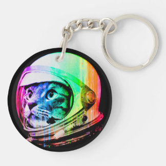 colorful cats - Cat astronaut - space cat Key Ring