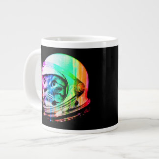 colorful cats - Cat astronaut - space cat Large Coffee Mug