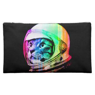 colorful cats - Cat astronaut - space cat Makeup Bag