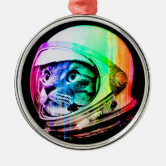colorful cats - Cat astronaut - space cat Metal Ornament