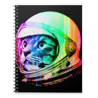 colorful cats - Cat astronaut - space cat Notebook