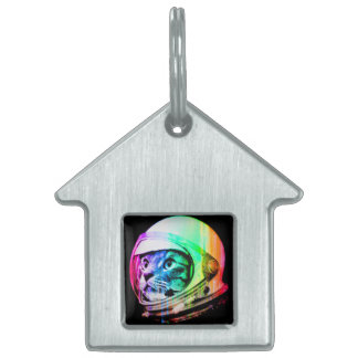 colorful cats - Cat astronaut - space cat Pet Tag