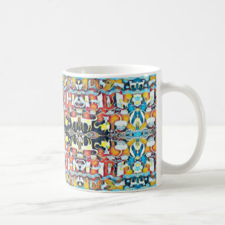 Colorful Cats Kaleidoscope Coffee Mug