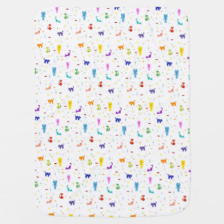 Colorful cats pattern happy funny texture baby blanket