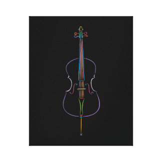 Colorful Cello Canvas Print