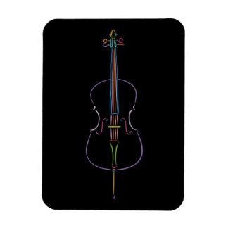 Colorful Cello Magnet