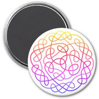 Colorful Celtic 7.5 Cm Round Magnet