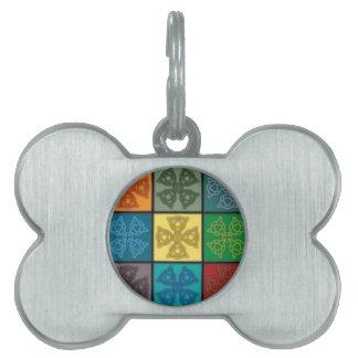 Colorful Celtic Knot Design Tie, Necklace etc Pet Name Tag