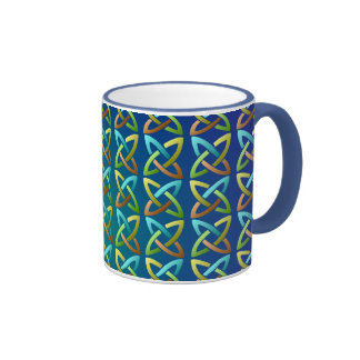 Colorful Celtic Knot Pattern Coffee Mugs