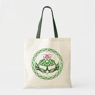 Colorful Celtic Knot Thistle Tote Bags